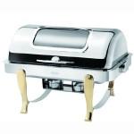 阿托萨(ATSOA)自助餐炉DKS61161-1/2    镀金可视方形