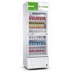 成菱保鲜展示柜LG-380B 双玻璃门展示柜 冷藏保鲜展示柜 上下玻璃门冰箱 商用