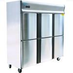 乐滋(LIZE)六门冷冻冷藏冰箱LZ1.0L6  乐滋六门双机双温冰箱 六门厨房冷柜 不锈钢六门冰柜