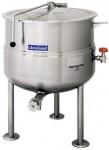 Cleveland  KDL型号,直接蒸汽夹层汤锅,(25-250加仑容量),三腿,固定式