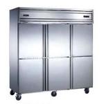 贝诺六门风冷冰箱KD1.6L6W【贝诺冰箱】 【贝诺冷柜】