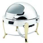ATSOA镀金可视温控圆形自助餐炉