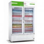 成菱展示柜LG-760B 双玻璃门 保鲜展示柜 冷藏展示柜 成菱冰箱展示柜 饮料展示柜  立式冷藏冰箱
