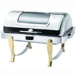 ATSOA镀金可视温控方形自助餐炉