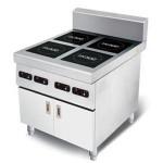 喜达客四头煲仔炉IND-EOP-2.5*4 【喜达客电磁炉】 大功率电磁炉 商用电磁炉  电磁厨房设备 不锈钢电磁厨房设备