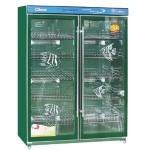 悦康GRP-1200BE消毒柜 绿钻消毒柜 双玻璃门消毒柜 商用消毒柜