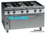 法格FAGOR CG9-61燃气六头炉连下烤箱