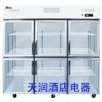 LIZE六玻璃门冰箱LZ1.6L6G 乐滋六门冷藏展示柜 LIZEl六门展示柜
