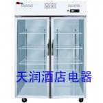 LIZE大二门冰箱LZ1.0L2G 乐滋二门冰箱 乐滋二门高身玻璃门展示柜
