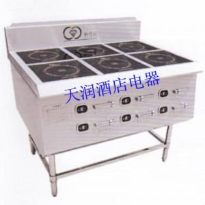 新纽威3.5kw六头立式煲仔xnw-sbz-6(双排) 商用电磁炉