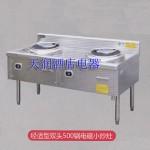 永尚WS-JSZ500S-12KW电磁灶 电磁炉  双头500锅 商用电磁炉 电磁厨房设备 大功率电磁炉