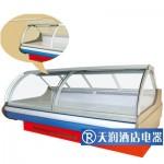 黎明W-SSG-A熟食柜 前翻盖型熟食柜 曲面熟食展示柜 弧面熟食展示柜