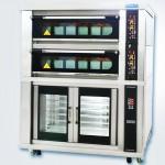新麦电烤箱+发酵箱SK-632TG+SK-12P  两层六盘电烤箱连12盘发酵箱 新麦电烤箱