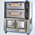 新麦二层烤箱+醒发箱SM-802T+SM-15F  二层六盘烤箱连15盘发酵箱组合炉