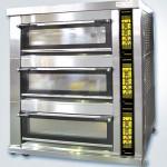 新麦三层九盘燃气烤箱SM-803TG 新麦烤箱 玻璃门