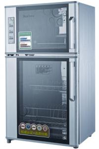 索奇消毒柜立式柜ZTP118-1 上层:臭氧加红外线烘干 下层:高温杀菌