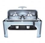 华菱ZC202自助餐炉 翻盖双头宴会餐炉