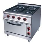 佳斯特ZH-TQ-4四头燃气煲仔炉连电焗炉 佳斯特西餐厨具 组合炉