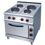 佳斯特ZH-TT-4四头电煮食炉连电焗炉 豪华立式组合炉