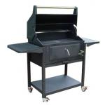 大型带轮碳烧烤车CEHCG311  大型黑色钢琴式炭烤炉