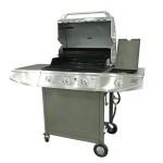 三头燃气烧烤炉CEHCG319 不锈钢双层炉盖 按钮型电子打火系统