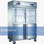 成菱四门双温冰箱KCD1.0S4 上玻璃门冷藏展示柜 下冷冻冰箱 成菱冰箱