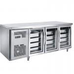 君诺JN-GNG1800L3FB/C三玻璃门GN盘冰箱 操作台冷柜 插盘工作台冷柜