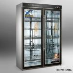 昌和CH-YTD-1200A双门低温臭氧消毒柜 玻璃门餐具消毒柜