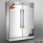 昌和CH-RTD-680B双门高温消毒柜 远红外线餐具消毒柜 二门高温消毒柜