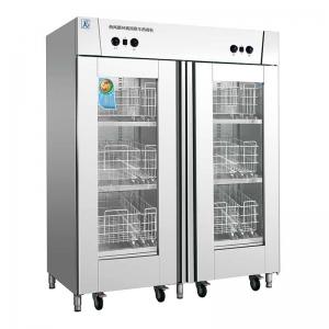 美厨双门消毒柜MC-6  高温热风循环消毒柜配推车 大型商用消毒柜