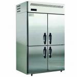 松下四门冰箱SRR-1281FC四门风冷冷藏柜 四门单温冷藏冰箱  Panasonic四门不锈钢冰柜
