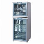 亿途ZTP-128V双门消毒柜 高低温消毒碗柜 玻璃门消毒柜