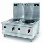 喜德力IND-COP-16×2H双头高背低汤灶 商用双头16kw电磁炉