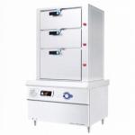 明钢kym-ZG15-1三门海鲜蒸柜 明钢电磁海鲜蒸炉 15KW电磁海鲜蒸柜