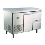卡姆尼GNTC700-1355L1D2一门二抽屉风冷平面工作台 商用冷藏工作台