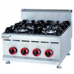 杰冠GH-587台式燃气煲仔炉  燃气四头炉 商用煲仔炉 杰冠西厨