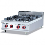 杰冠GH-987-1燃气四头煲仔炉  杰冠台式四头煲仔炉