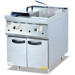 杰冠GF-985-2立式双缸燃气炸炉连柜座  杰冠西厨
