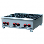 杰冠GH-6燃气煲仔炉   台式六头煲仔炉 杰冠西厨设备