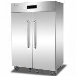 康煜RTP-1500A热风循环消毒柜 不锈钢双门消毒柜 商用餐具消毒柜 高温消毒柜 带推车消毒柜
