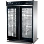 康煜YTP-1300A低温消毒柜 玻璃双门消毒柜 商用餐具消毒柜 触摸屏消毒柜