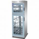康煜ZTP-380V(2)消毒柜 双温消毒柜 上下玻璃门消毒柜 触摸屏消毒柜