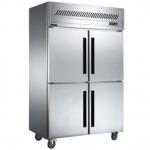 贝柯BCD1.0L4四门双温冰箱   商用厨房冰箱    直冷双温冷柜