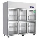 奥斯特六门冷柜TS1.6G6 冷藏保鲜展示柜 六门冷藏箱 陈列展示柜