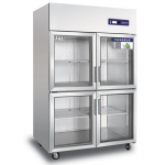 奥斯特四门展示冷柜TS1.0G4 四玻璃门冷藏保鲜冰箱 酒水饮料展示柜  蔬菜冷藏展示柜 蔬果冷藏保鲜展示冰箱 点菜柜