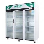 幸福雨三大门展示柜ZS-A-S1220     超市三门饮料展示柜