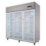幸福雨ZS-S1820大三门展示柜   厨房三门冷藏冰箱