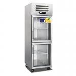 美厨二门展示冷柜ES0.5G2 上下两门展示冰箱
