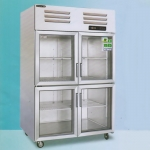 美厨四门风冷冷藏保鲜展示柜AES1.0G4 商用四玻璃门保鲜陈列柜
