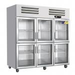 美厨六门风冷展示柜AES1.6G6 美厨六门风冷展示冰箱